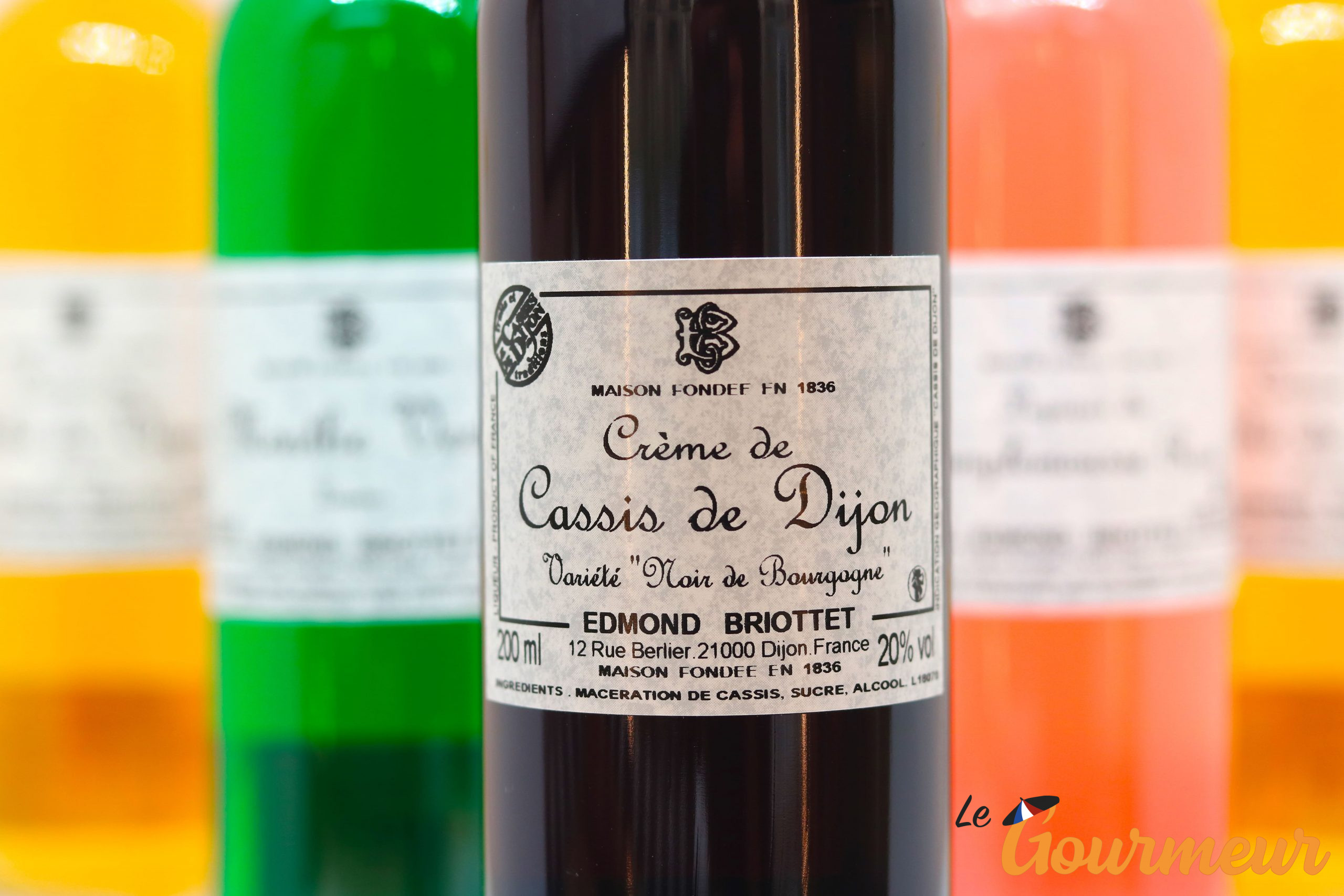 liqueur crème de cassis de Dijon IGP briottet
