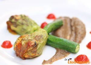 fleur de courgette farcie recette et plat de provence