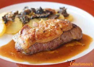 piece boeuf foie gras sauce perigourdine 1