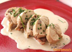 poulet à l'angevine recette et plat d'anjou