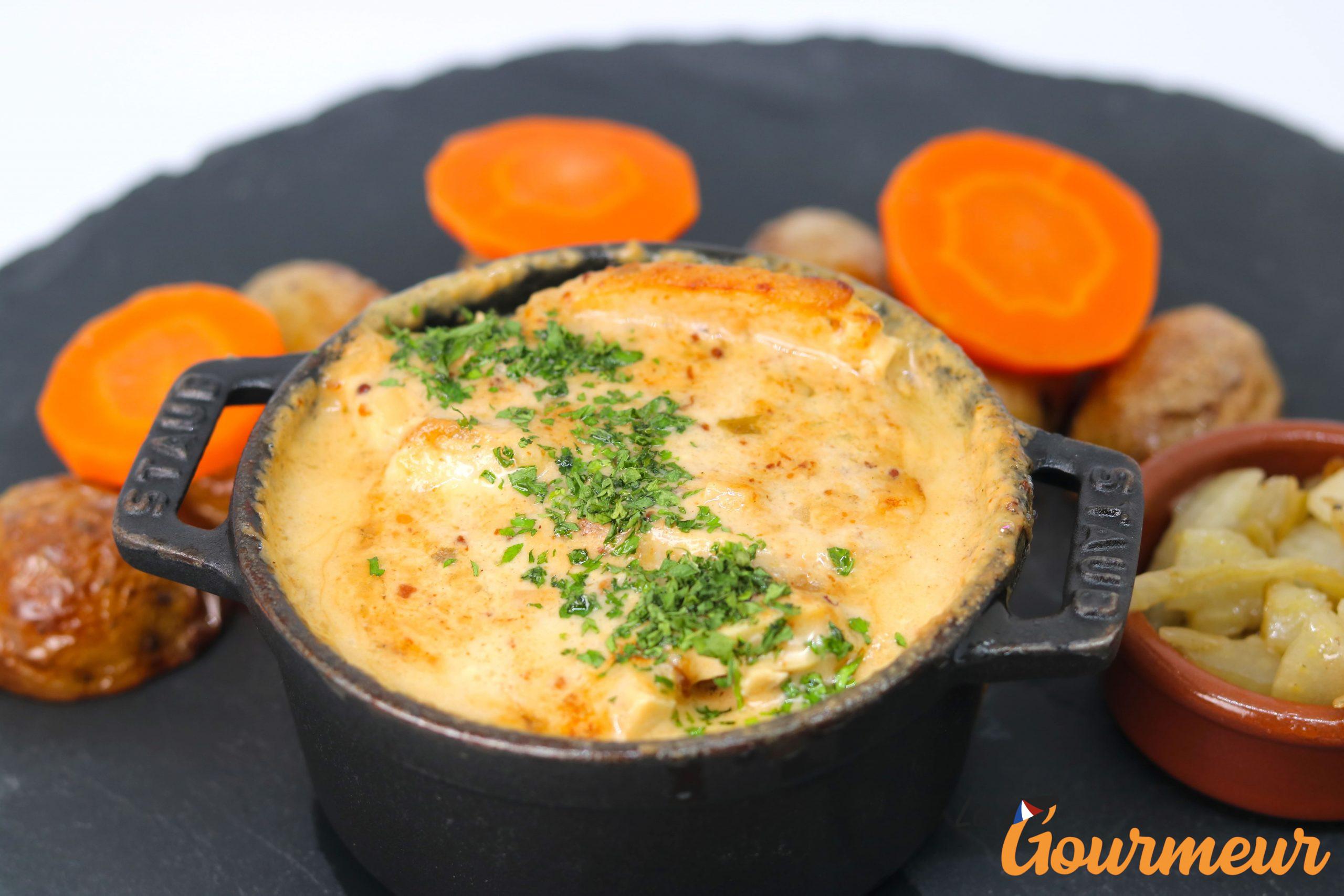 poulet façon madame Gaston Gérard plat et recette de Bourgogne