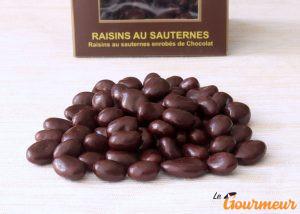 raisin au sauternes enrobé de chocolat