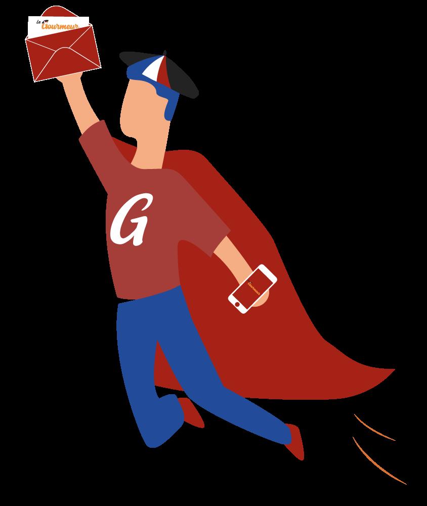 Le Gourmeur Super héros newsletter